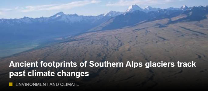 Ancient footprints of Southern Alps glaciers track past climate changes