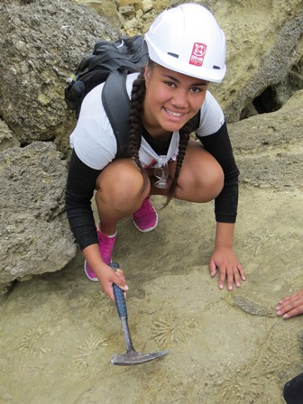 Geocamp participant discovers trace fossils