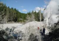 Post hydrothermal eruption