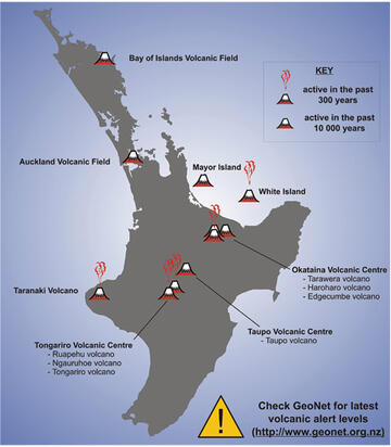 Map of North Island for ashfall posters