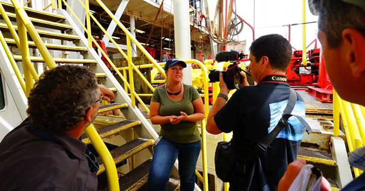Scientist Erin Todd explains drilling operations on the research ship JOIDES Resolution which leaves Lyttelton this weekend bound for Antarctica.