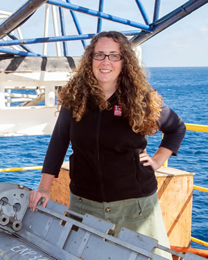 Dr Laura Wallace. Photo from Tim Fulton, IODP.