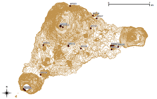 Easter Island map of samples