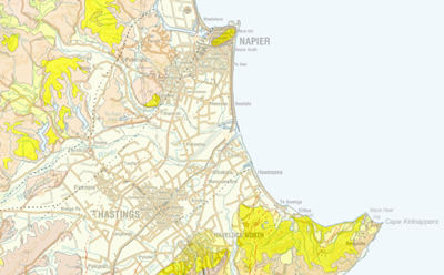 Hastings New Zealand Map.Napier Hastings Urban Geological Mapping Regional Geology Land