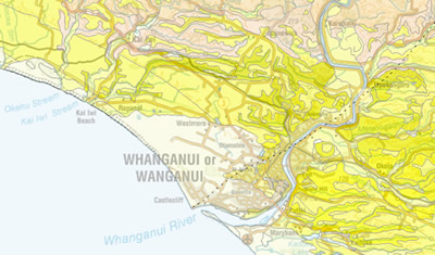 Where Is Wanganui In New Zealand Map.Whanganui Urban Geological Mapping Regional Geology Land And