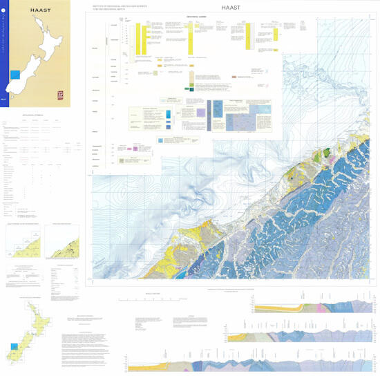 Site Map Digital: QMAP Haast / QMAP Text & Maps / 1:250 000 Geological Map Of New Zealand (QMAP) / Geological Maps