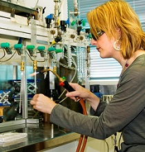Sample preparation in the Radiocarbon Dating laboratory, GNS Science