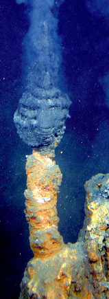 Hydrothermal vent at Brothers Volcano in the Kermadec Arc.