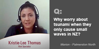 Why worry about tsunami when they only cause small waves in New Zealand?