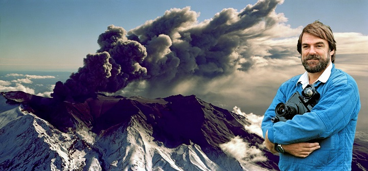 Lloyd Homer had impeccable timing during many major geological events including the spectacular eruptions of Mount Ruapehu in 1996.