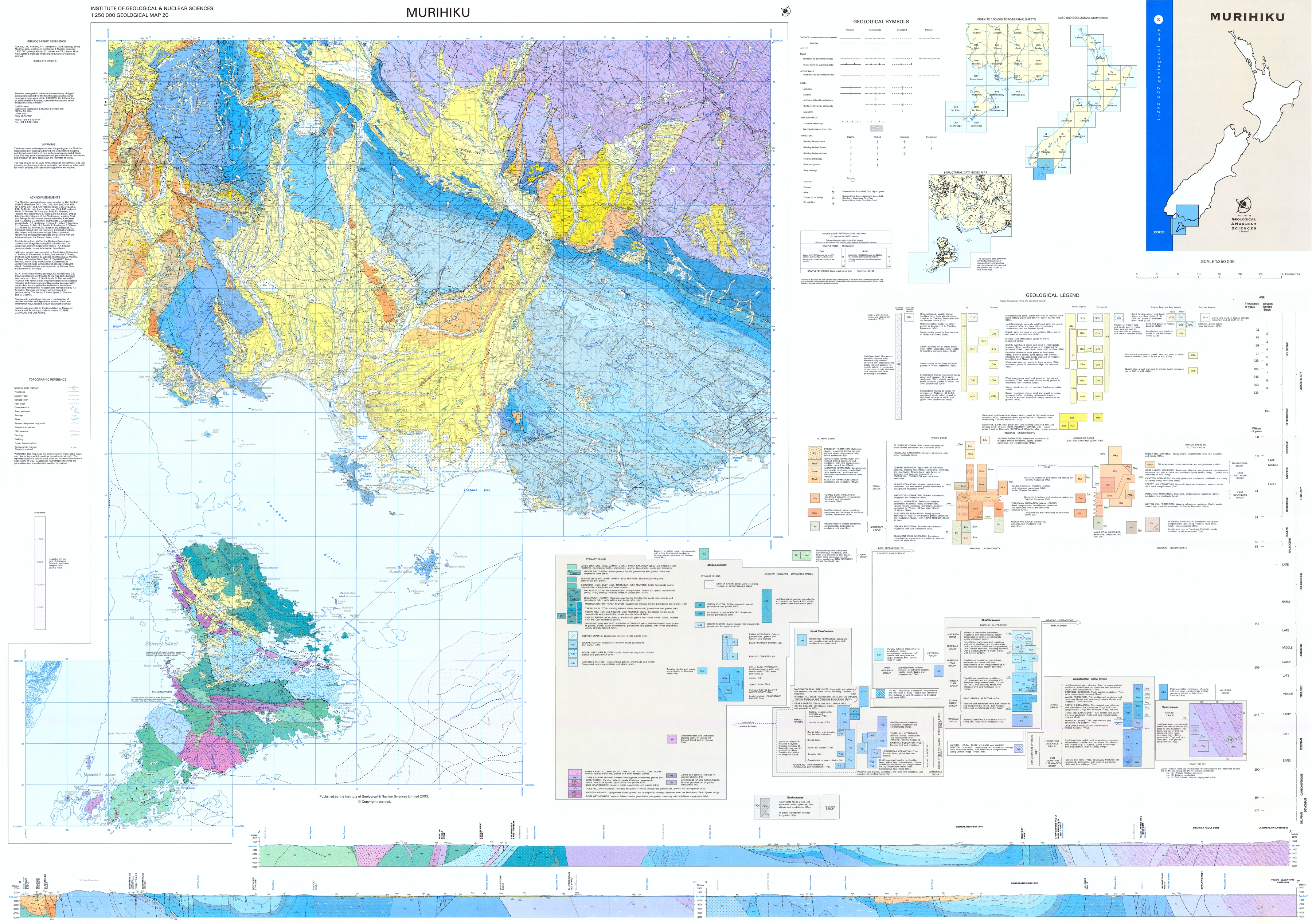 QMAP text & maps 1 250 000 Geological Map of New Zealand QMAP