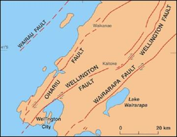 How often do earthquakes occur along the fault Wellington Fault