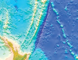 New Zealand Continent Kermadec. Image: GNS Science.