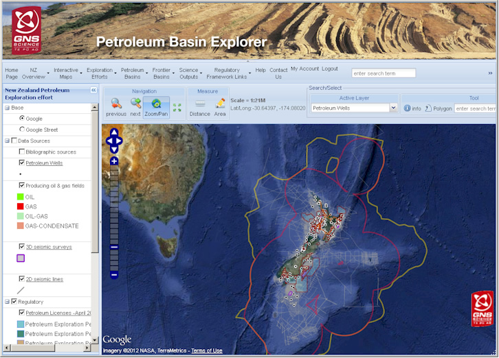 The Petroleum Basin Explorer portal provides access to a huge range of information on New Zealand's sedimentary basins.