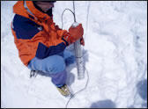 scientists drilling ice core