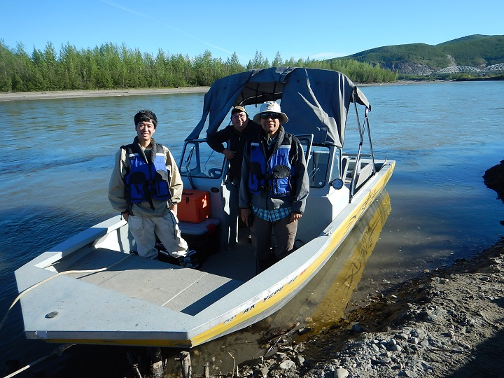 Scientists in the Minto Flats region