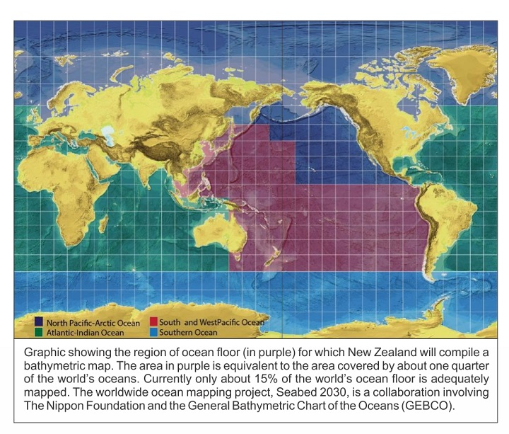 Nz scientists launch their part in bold project to map seafloor 21 seafloor map gumiabroncs Gallery
