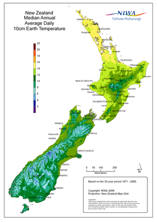 Soil ground conditions geothermal heat pumps using for Soil temperature map